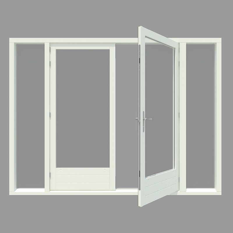 Houten tuindeuren op maat eenvoudig bestellen houtenkozijnonline - Stel een dressoir glas ...