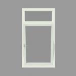 2-vak kozijn inclusief 1x draai-kiep raam met bovenlicht. - Houten Kozijn Online
